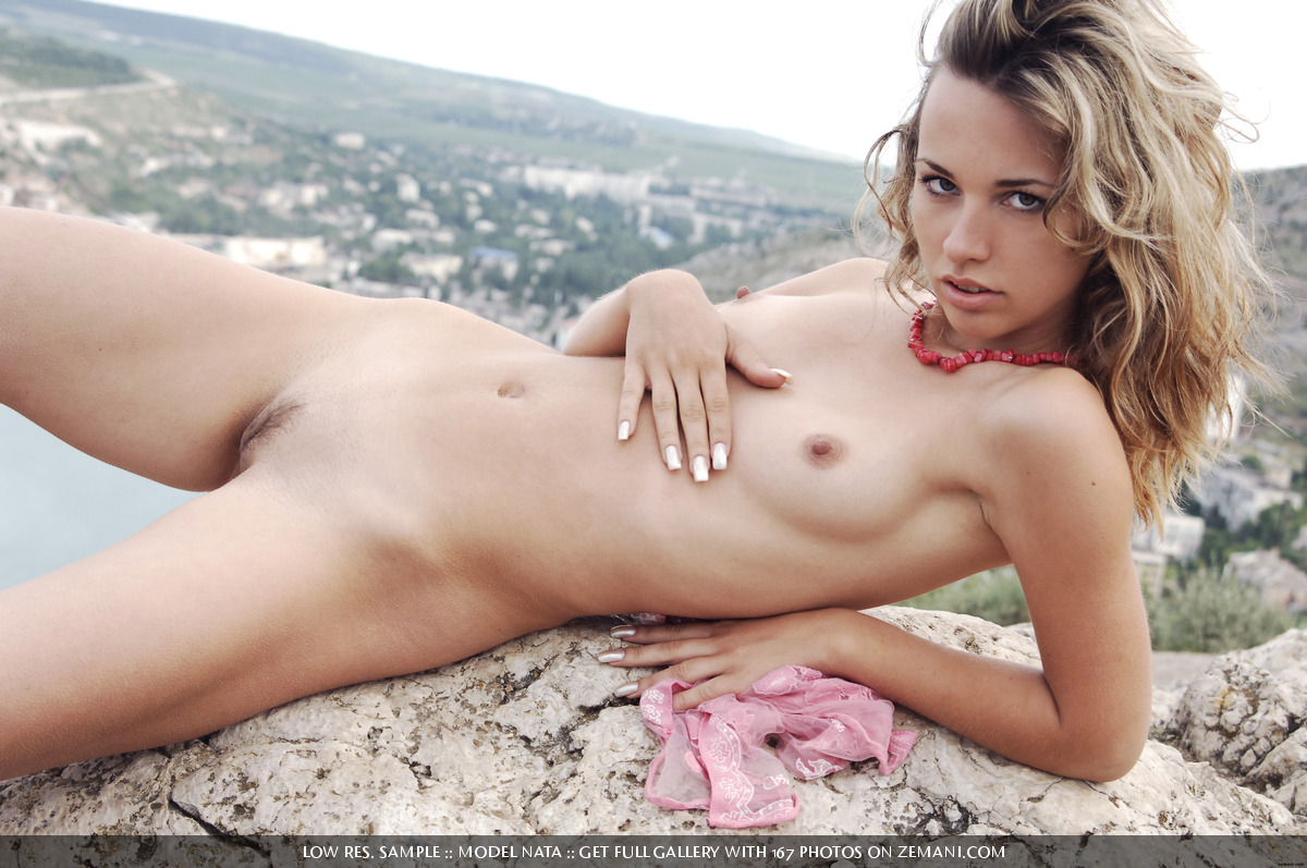 Nude Girl On Mountain